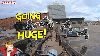 Urban Supermoto Exploring | Spencer Almost Dies!!