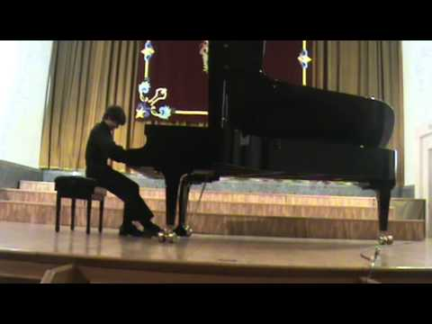 Prelude Scriabin - piano, Zachary Lagha.  Burgos Music Festival 2012, Spain