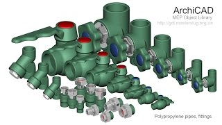 ArchiCAD. MEP. Водопровод полипропиленовый (Ekoplastik). Часть1