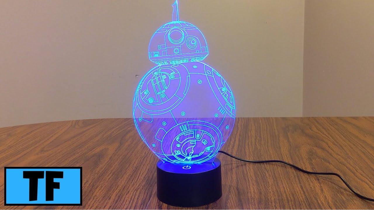 Star Wars 3d Illusion Led Bb8 Night Light Lamp Room Desk