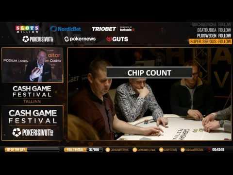 Live 1€ /2€ Poker at Cash Game Festival Tallinn TV Table Session #2