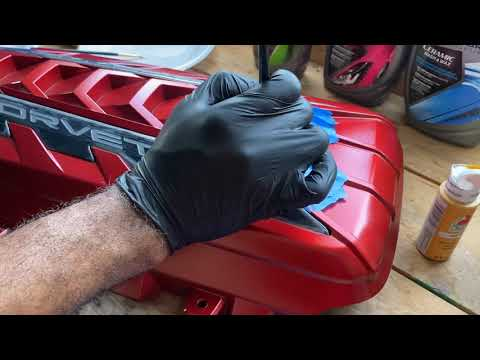 Showing How to Remove and Customized a  C8 Corvette  Engine Cover!