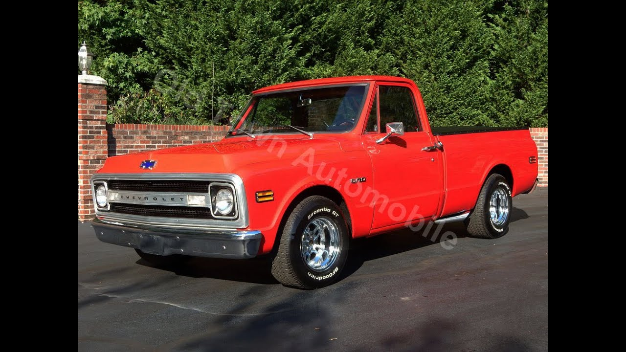 1969 Chevy Short Wide Truck Red For Sale Old Town Automobile In 1955 Ford F100 Bed Maryland