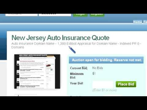 New Jersey Auto Insurance Quote Domain For Sale