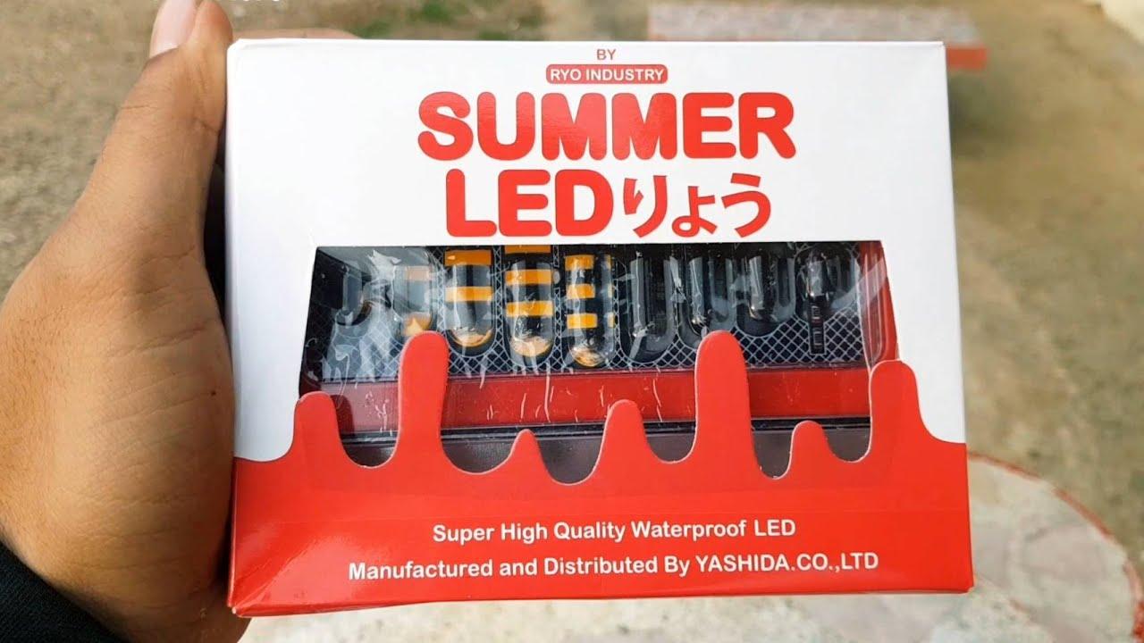 รีวิวไฟราวข้างส่องพื้น SUMMER LED 24V. รถพ่วงสวยๆ 🚨🚨🚨 พร้อมวิธีติดตั้ง สว่างแจ่มมากๆ 😎😎😎