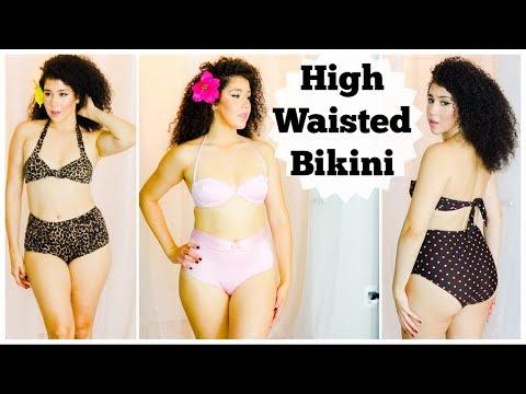 high-waisted-bikini- -vintage-swimsuit- -pinup-bikini