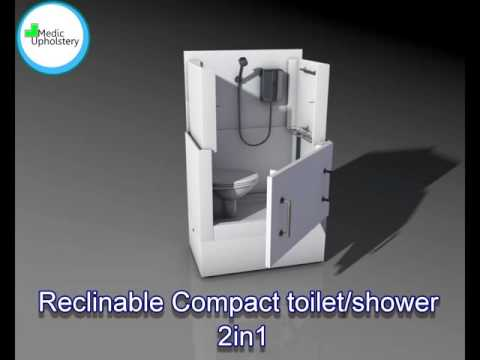 Reclinable Compact toilet/shower 2in1