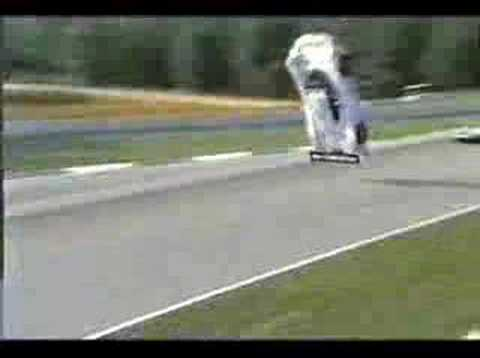 F1 car takes off