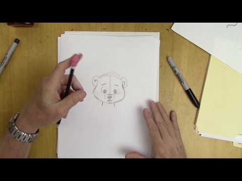 How To Draw A Cartoon Bear - Very Easy!