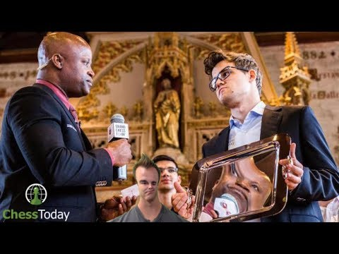 Chess Today: July 3rd 2017 | Magnus Carlsen's Golden Plate