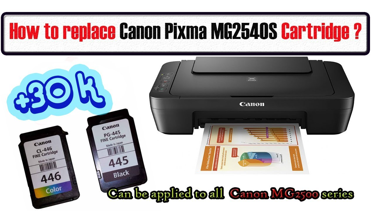 Replace/change Canon Pixma MG20S Ink Cartridge   Applied to Canon  MG20 series