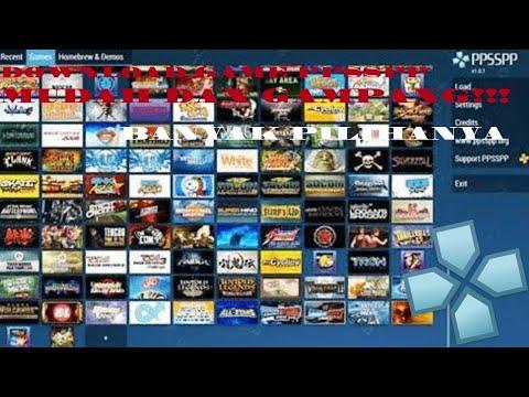 Cara Mudah Download Game PPSSPP!!  Dan Banyak PILIHANYA!!!