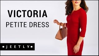 Petite Red dress - Victoria Red pencil dress by Jeetly
