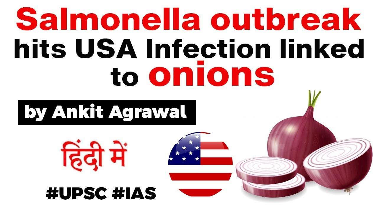 Salmonella outbreak hits USA - Infection linked to onions - Know all about it #UPSC #IAS