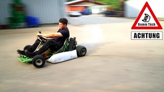 125 ccm - 6 Gang Go-Kart - Probefahrt mit voller Leistung | Dumm Tüch