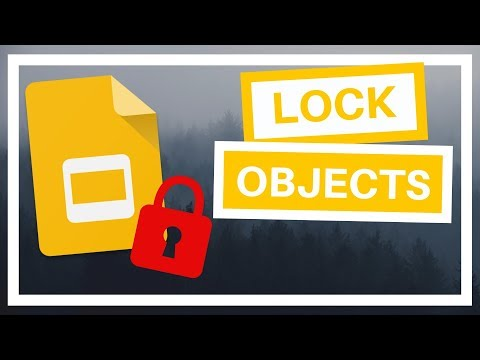 How to Lock Objects in Google Slides