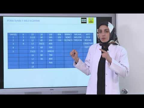 İşaret Dili Rakamlar ve Sayılar [Mesut Yazıcı]