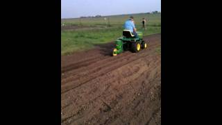 JD71 planter single row garden tractor Hobby Farming