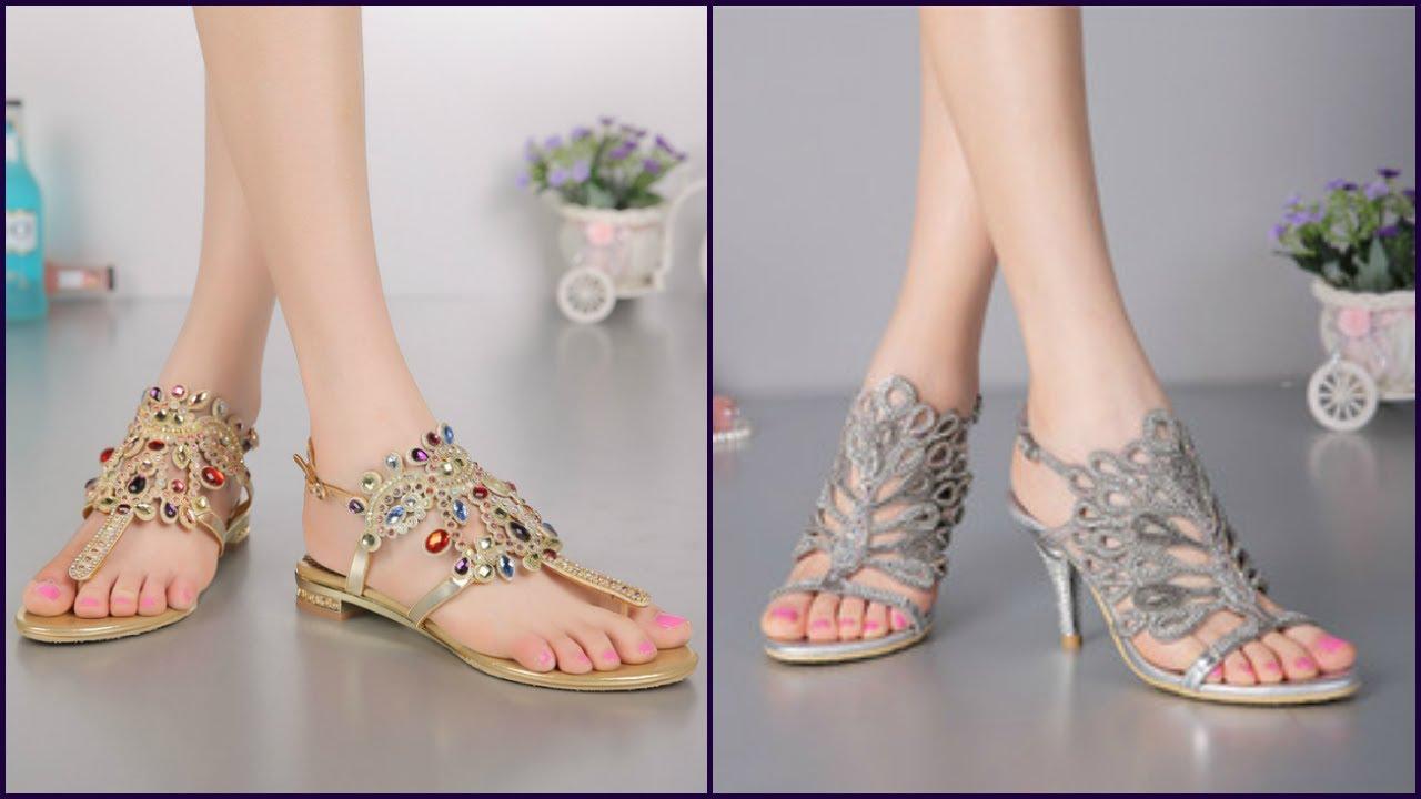 b310dd0b4541a6 Party Wear Sandals   Long Lasting Designs For Women - YouTube