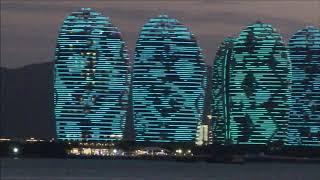 Phoenix Island Sanya Сказачное световое шоу остров Феникс Хайнань видео