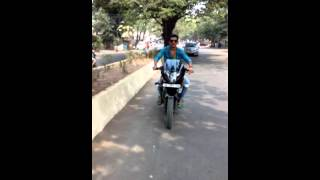 Somnath badshah- bike stunt at kurla camp.