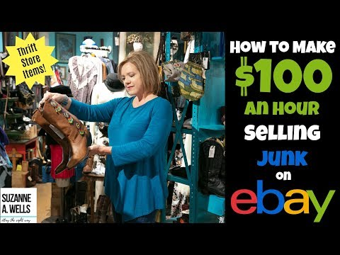 Goodwill Thrift Store Haul for eBay:  Make $100 an Hour Selling Junk!