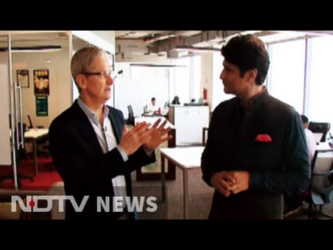 Apple CEO Tim Cook travels with NDTV in India