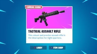 NEW TACTICAL ASSAULT RIFLE LIVE GAMEPLAY!! FORTNITE NEW ASSAULT RIFLE