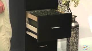 Valona Custom Four Drawer Filing Cabinet - Black - Product Review Video