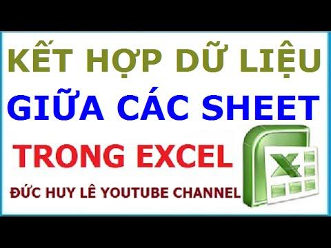 Lọc và liên kết dữ liệu giữa các sheet trong Excel