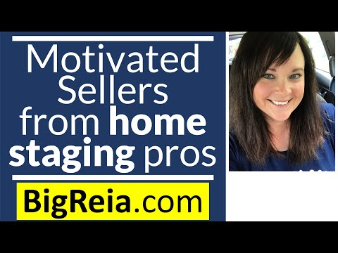 Get motivated sellers from home staging pros, make an extra 50k this year Indiana real estate rocks!
