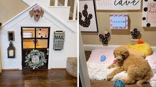 Pooch Gets Custom House Under Stairs