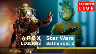 APEX LEGENDS and SWBF2 LIVE stream. Random player playing while eating chips...