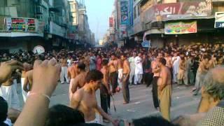 """10 Muharram 2011-12 Markazi Jaloos """"Ghanta Ghar"""" (Dhobi Ghat) Faisalabad"""