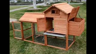Pawhut Deluxe Backyard Chicken Coop Hen House W Outdoor Run
