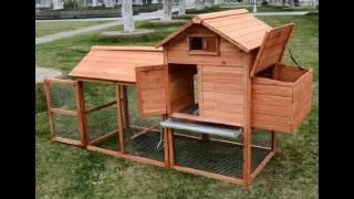 Pawhut Deluxe Backyard Chicken Coop Hen House W Outdoor Run