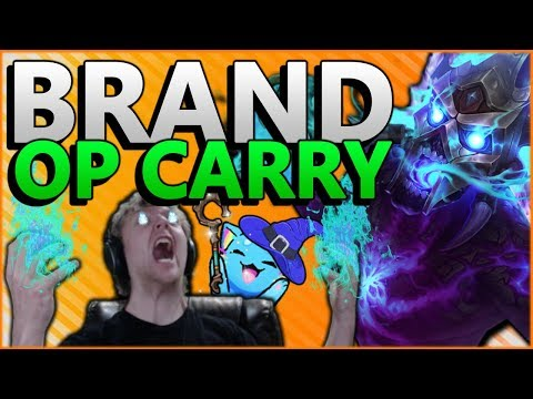 GET YOUR LP WHILE IT'S HOT! BRAND IS BEST BOT LANE CARRY IN PATCH 8.12 - League of Legends