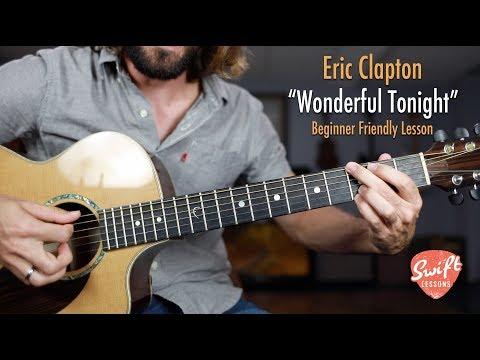 "Eric Clapton ""Wonderful Tonight"" - Easy Beginner Guitar Songs Lesson thumbnail"