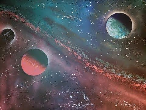 How To Spray Paint An Epic Galaxy – SPRAY PAINT ART TUTORIAL
