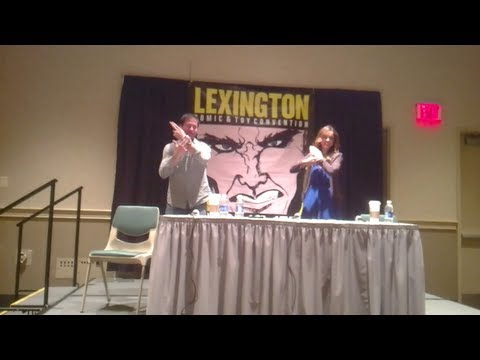 Power Rangers Time Force  Jason Faunt and Erin Cahill Morph at LexCon