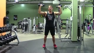 Dumbbell Upright External Rotation - HASfit Rotator Cuff Exercise Demonstration - Exercises