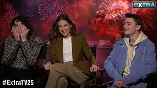 Millie Bobby Brown & Finn Wolfhard Talk Their Awkward Kissing Scenes on 'Stranger Things'