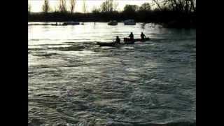 Flooded Thames at Abingdon.