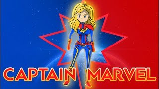 How to Draw Captain Marvel   Avengers End Game   Coloring Pages For Kids