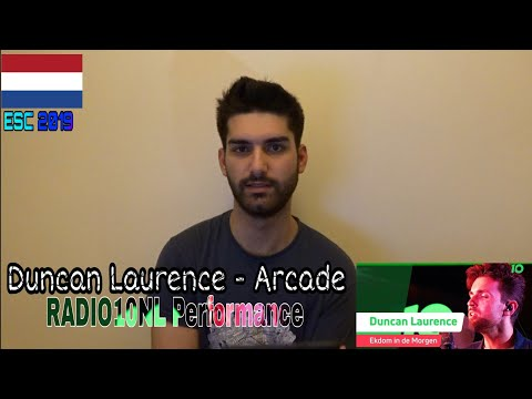 Duncan Laurence - Arcade (Radio10NL Performance Reaction - The Netherlands Eurovision 2019)