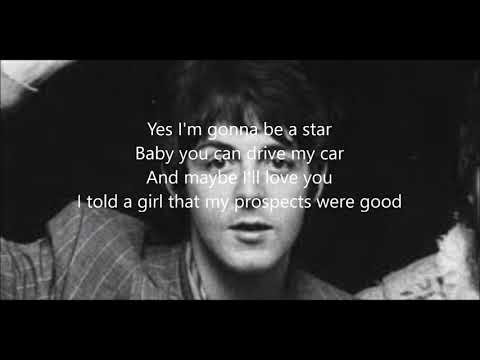 Drive my car with lyrics(Paul McCartney)
