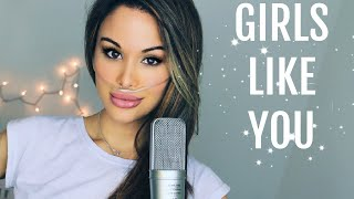 Download Lagu Maroon 5 - Girls Like You ft. Cardi B (Cover By Chloe Temtchine & Dave Berry) Mp3