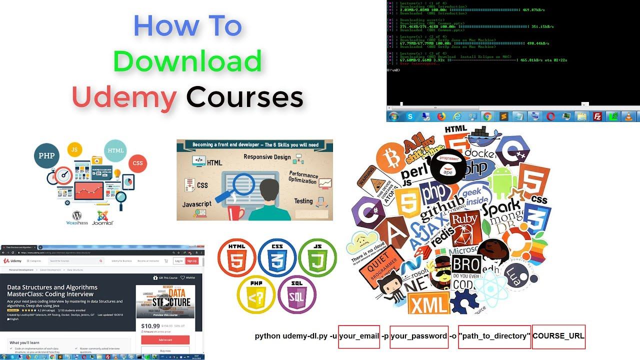 How to download udemy courses for free #UdemyDownloader - Application for  Downloading Udemy Courses