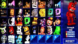 - ALL ENEMY ANIMATRONICS UNLOCKED .. FNAF WORLD Simulator