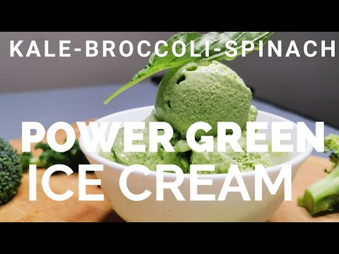 Kale Broccoli Spinach Power Green Ice Cream